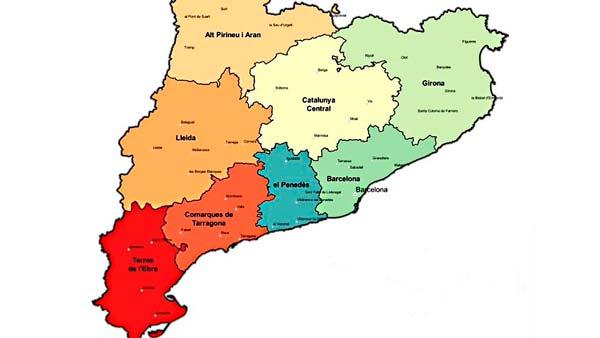 Un Joc Mapa Comarcal De Catalunya Aleix Font Colonia Güell
