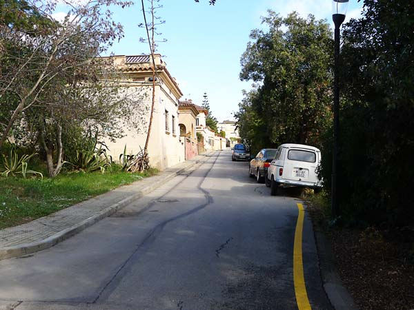 carrer Lluís Artó Colònia Güell