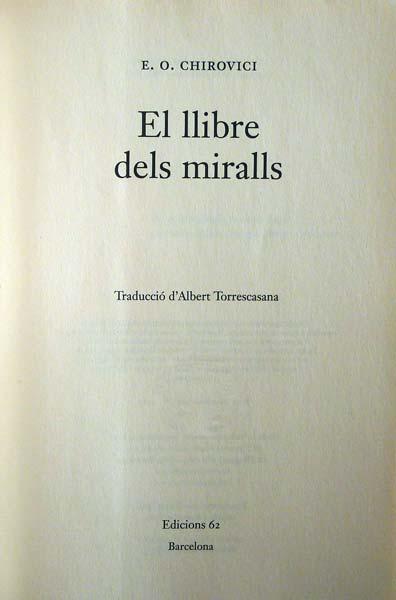 Llibre dels Miralls - E.O.Chirovici