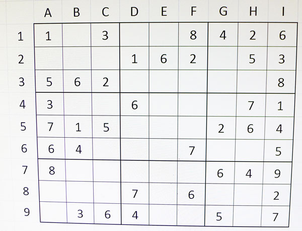 Sudoku procés