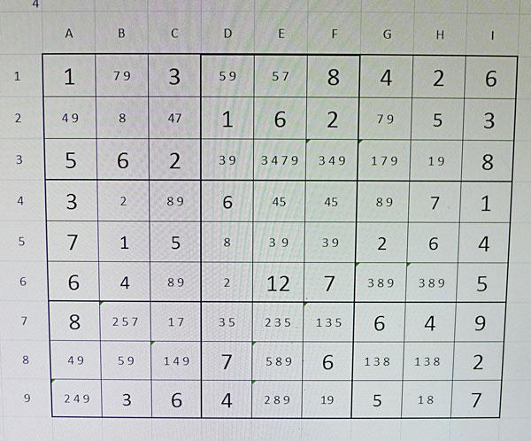Esporgant el Sudoku