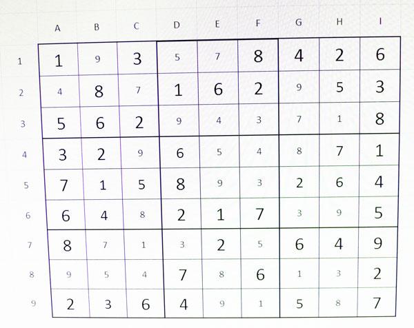 Sudoku solució