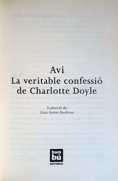 veritable història Charlotte Doyle